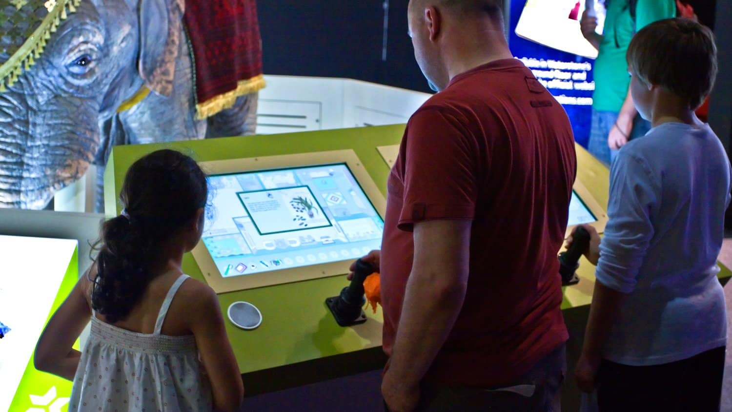 AV interactive at 1001 Inventions Exhibition in Science Museum London