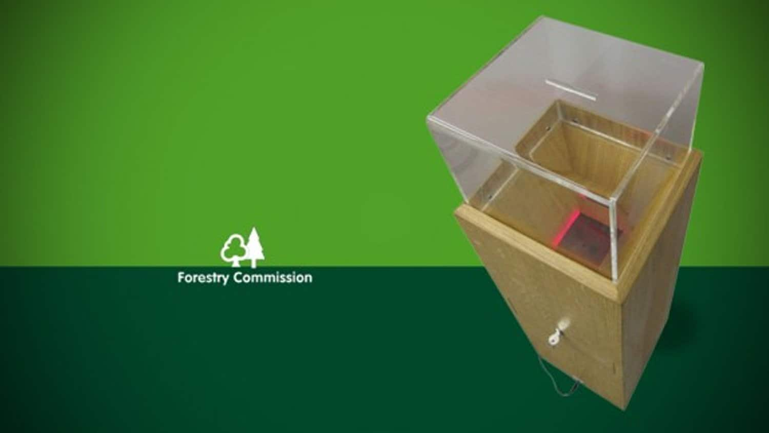 Audio Donation Box, Forestry Commission Wales