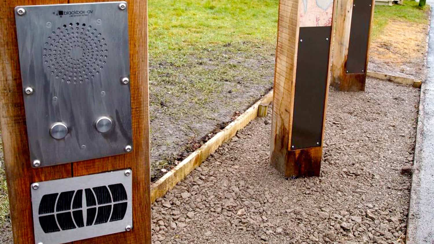 Close up of Solar Audio Post Electronics by Blackbox-av for Ebbw Fach Outdoor Trail