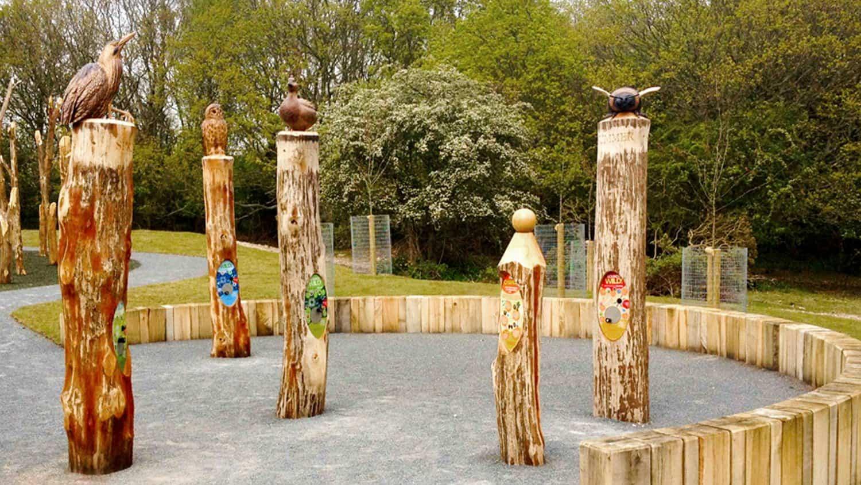 Bespoke AudioSign Turn in Custom Wood Panels at RSPB Minsmere