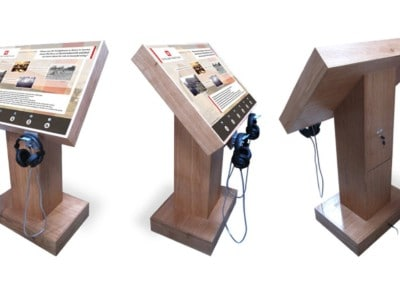 6 Button Audio Kiosk – Harmondsworth Barn