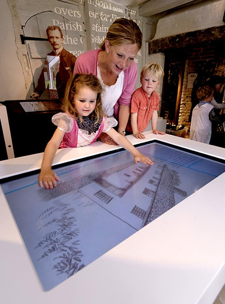Finchingfield Guildhall musuem multi-touchtable