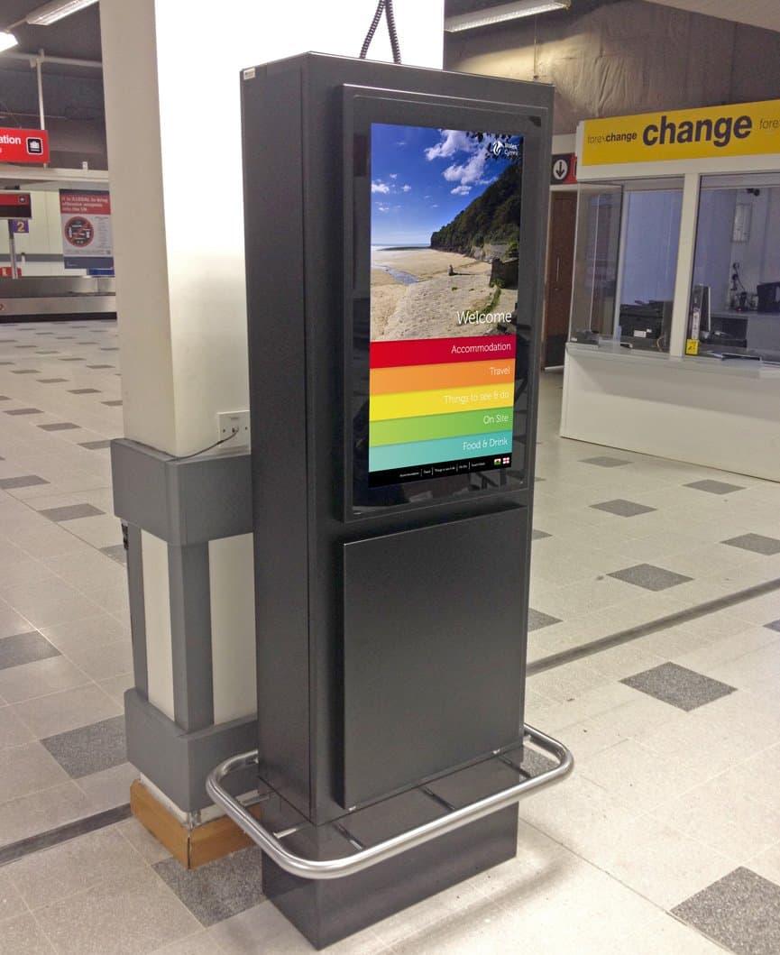 Cardiff Airport Bespoke Browsing Kiosk Software