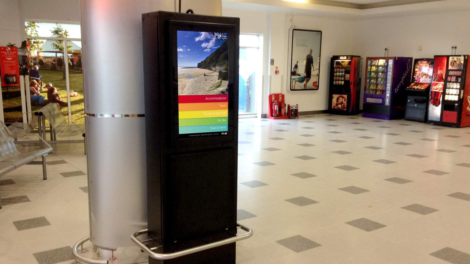 Information Kiosk Cardiff Airport Blackbox Av