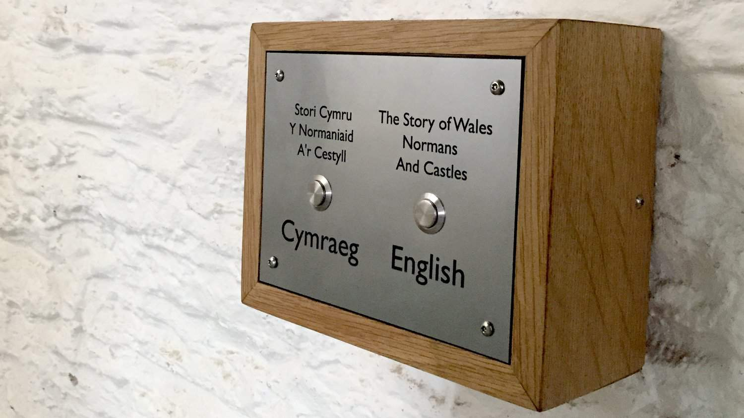 Bespoke Buton Activated Box by Blackbox-av for Caerphilly Castle