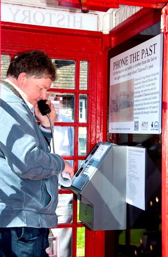 Oral History Telephone Box at Tideswell