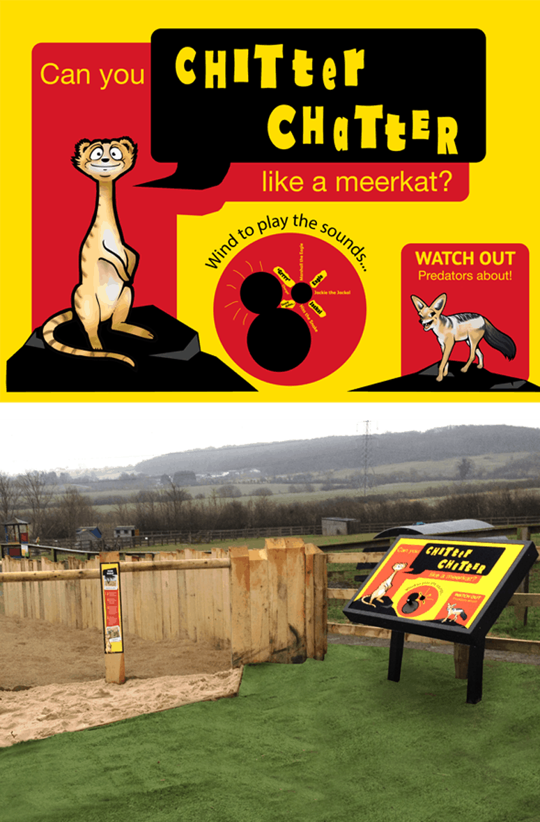 Audio Signs Lee Valley Farm Meerkats