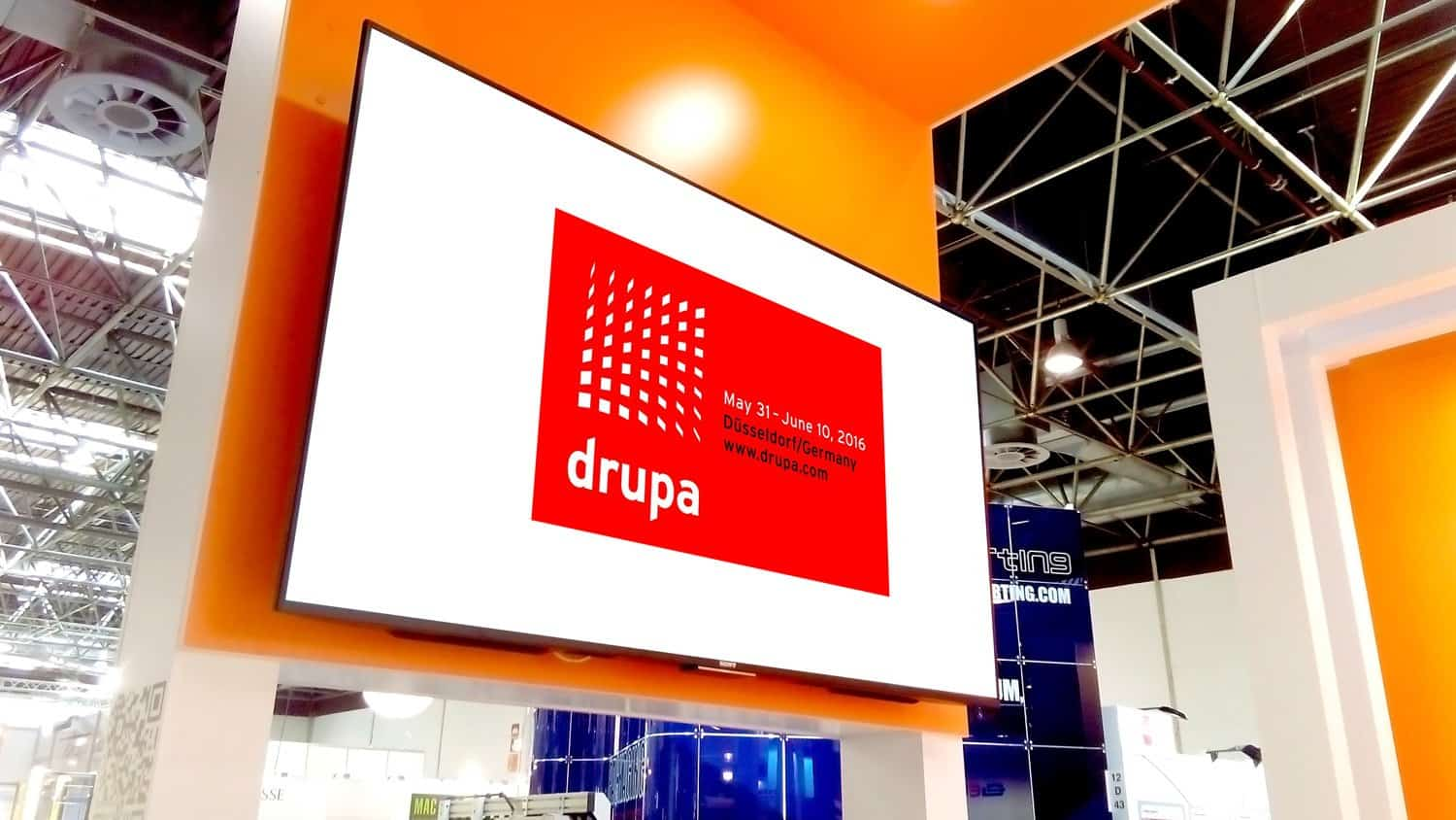 Museum video player videoclip-hd used at drupa by euromac