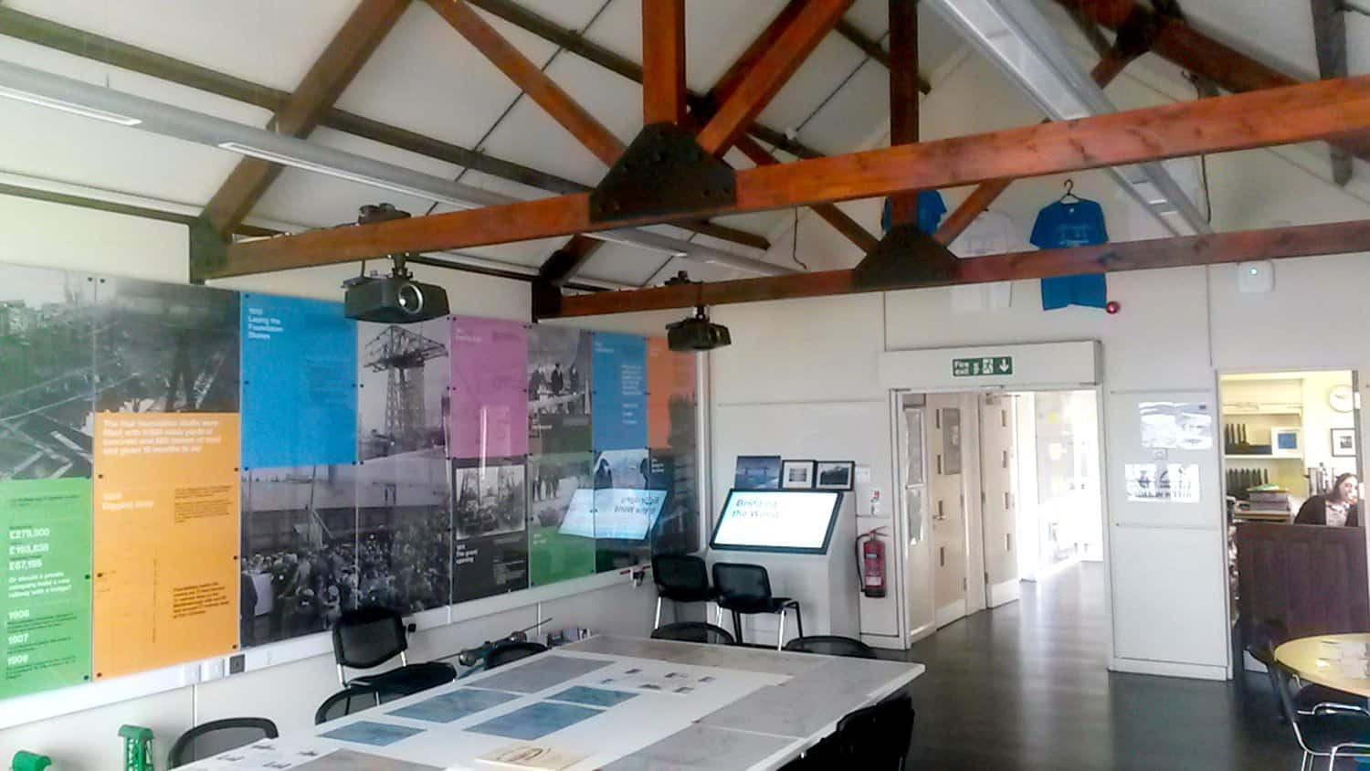 Projector and Touchscreen Installation Teeside Transporter Bridge Visitor Centre