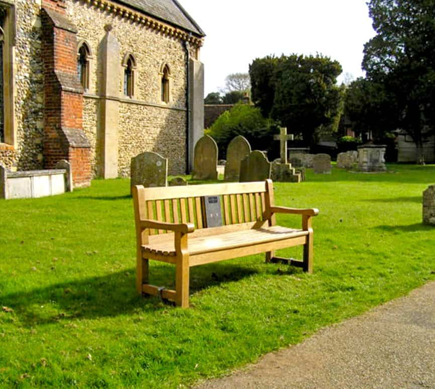 You Are Hear Listening Bench in Castle Hedingham Essex