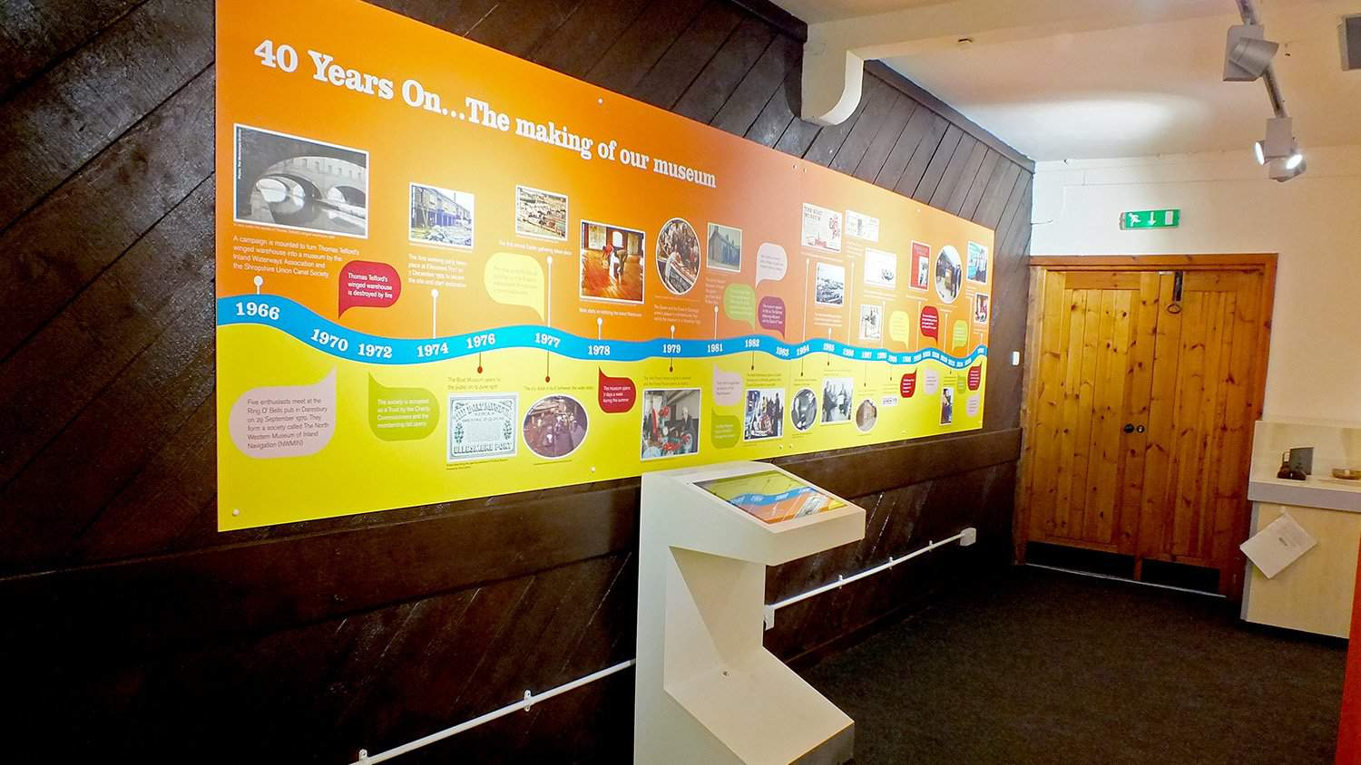 40 Years On Exhibit at National Waterways Museum for Canal & River Trust