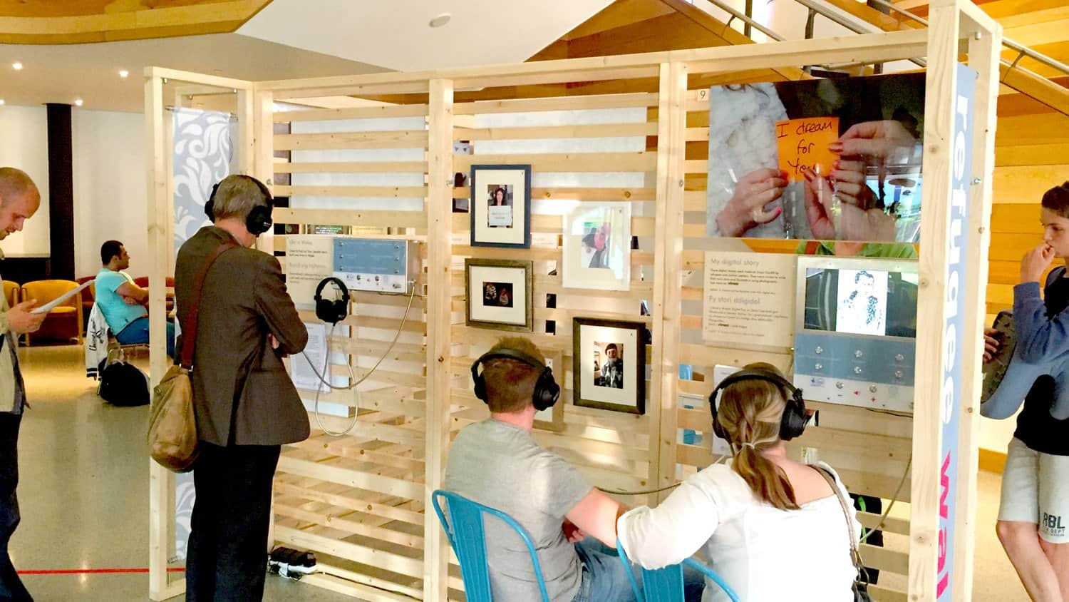 Blackbox-av Bespoke Video and Audio Unit for Oasis Cardiff exhibition