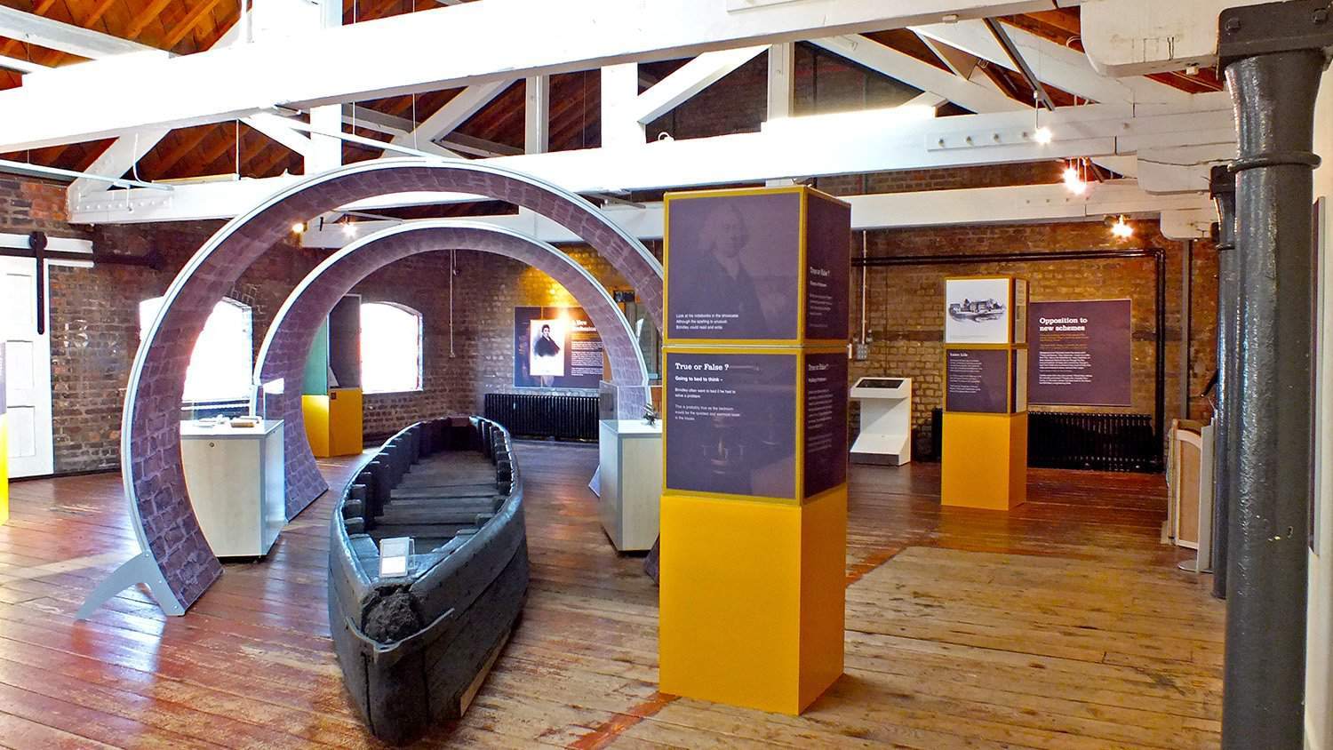 Brindley 300 Exhibition with Kiosk from Blackbox-av at National Waterways Museum