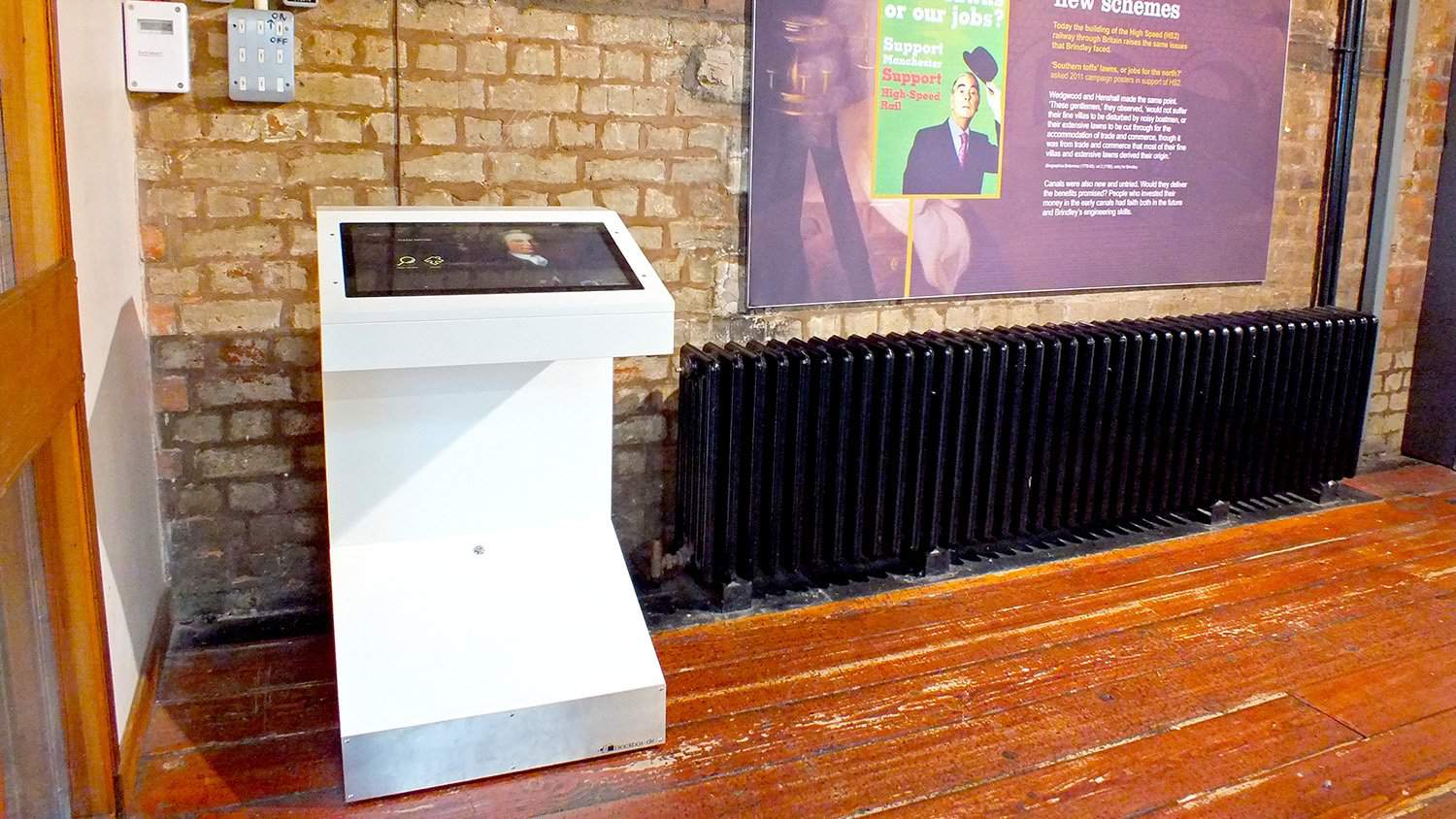 Free Standing Brindley 300 Kiosk with Parallax Homepage from Blackbox-av