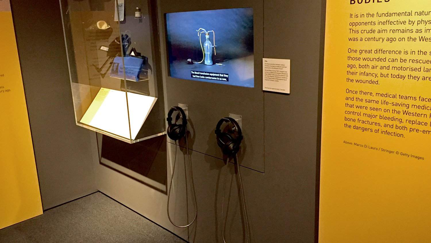 Armour Cable Headphones at Science Museum, London