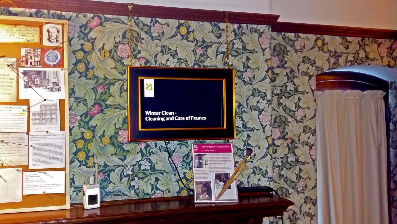 Blackbox-av 15 inch open frame screen at Wightwick Manor