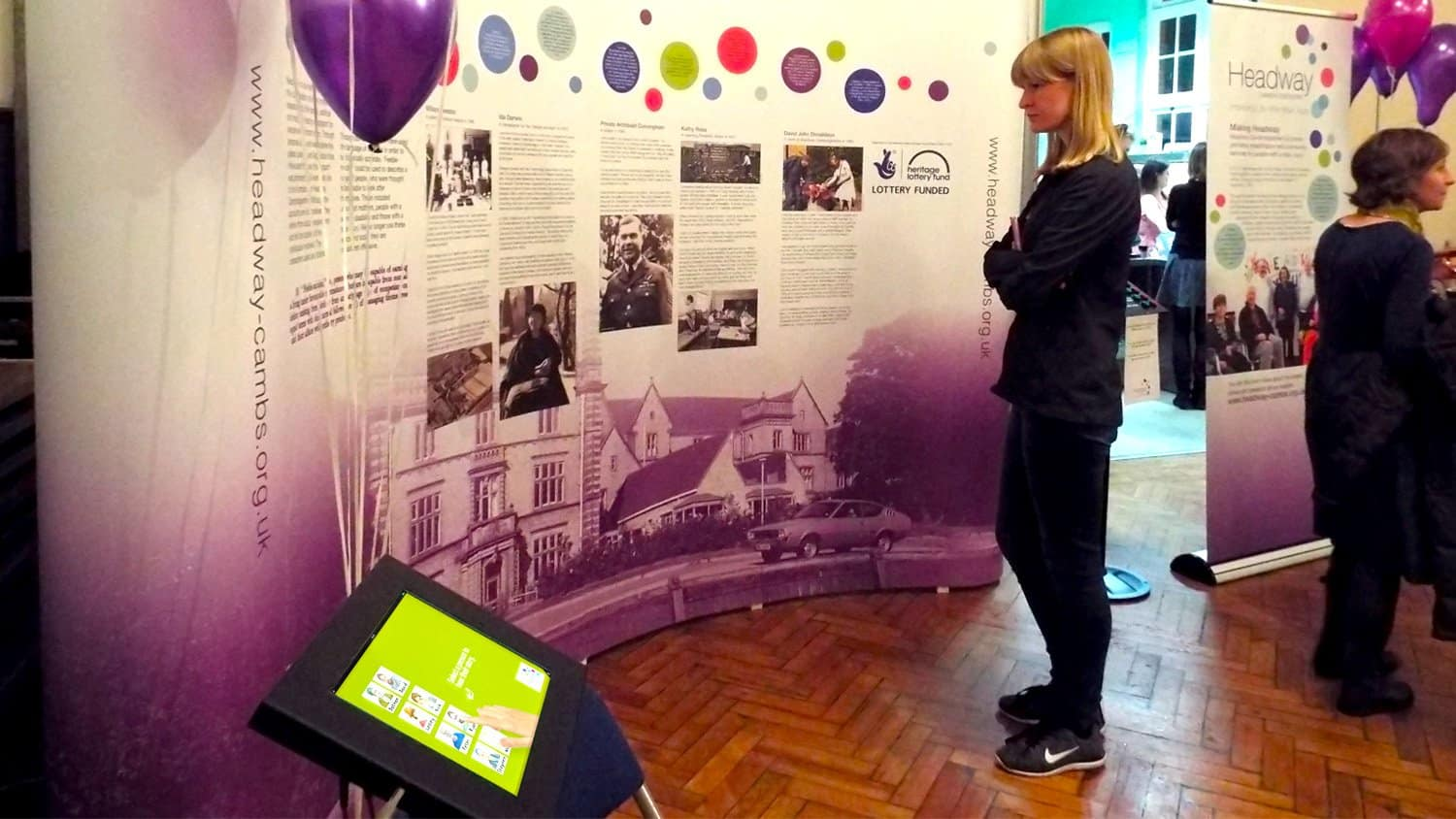 Headway Cambridgeshire making Headway Event with iPad Kiosk & Feedback Counter 2
