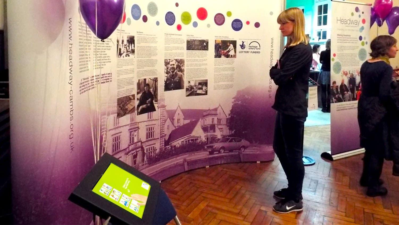 Headway Cambridgeshire making Headway Event with iPad Kiosk & Feedback Counter 2