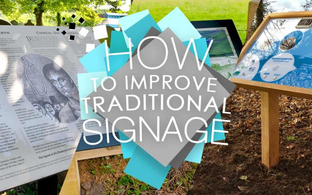 How to improve traditional signage Image