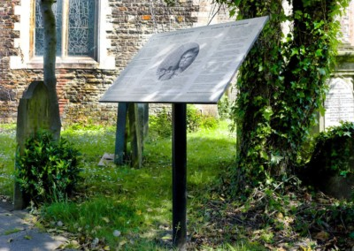 Dic Penderyn Signage – St Mary's Church