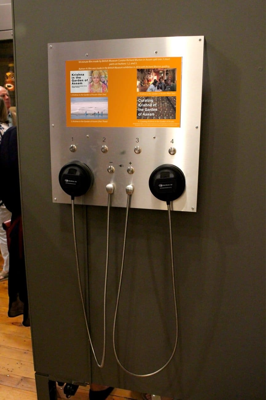 15 Inch Video Button Unit and Single Cup Headphones at Chepstow Museum by Blackbox-av