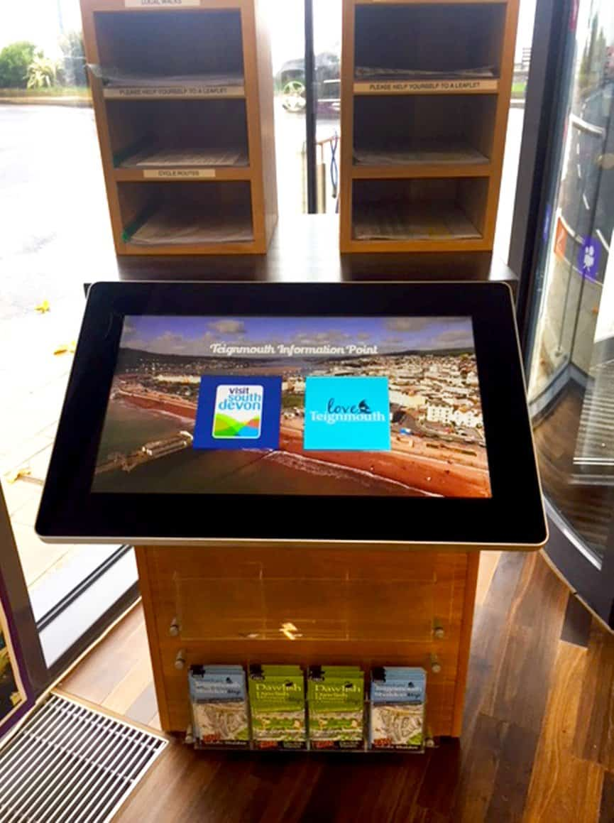 22 All in One Touchscreen at Teignmouth Pavillion with Blackbox-av bespoke software