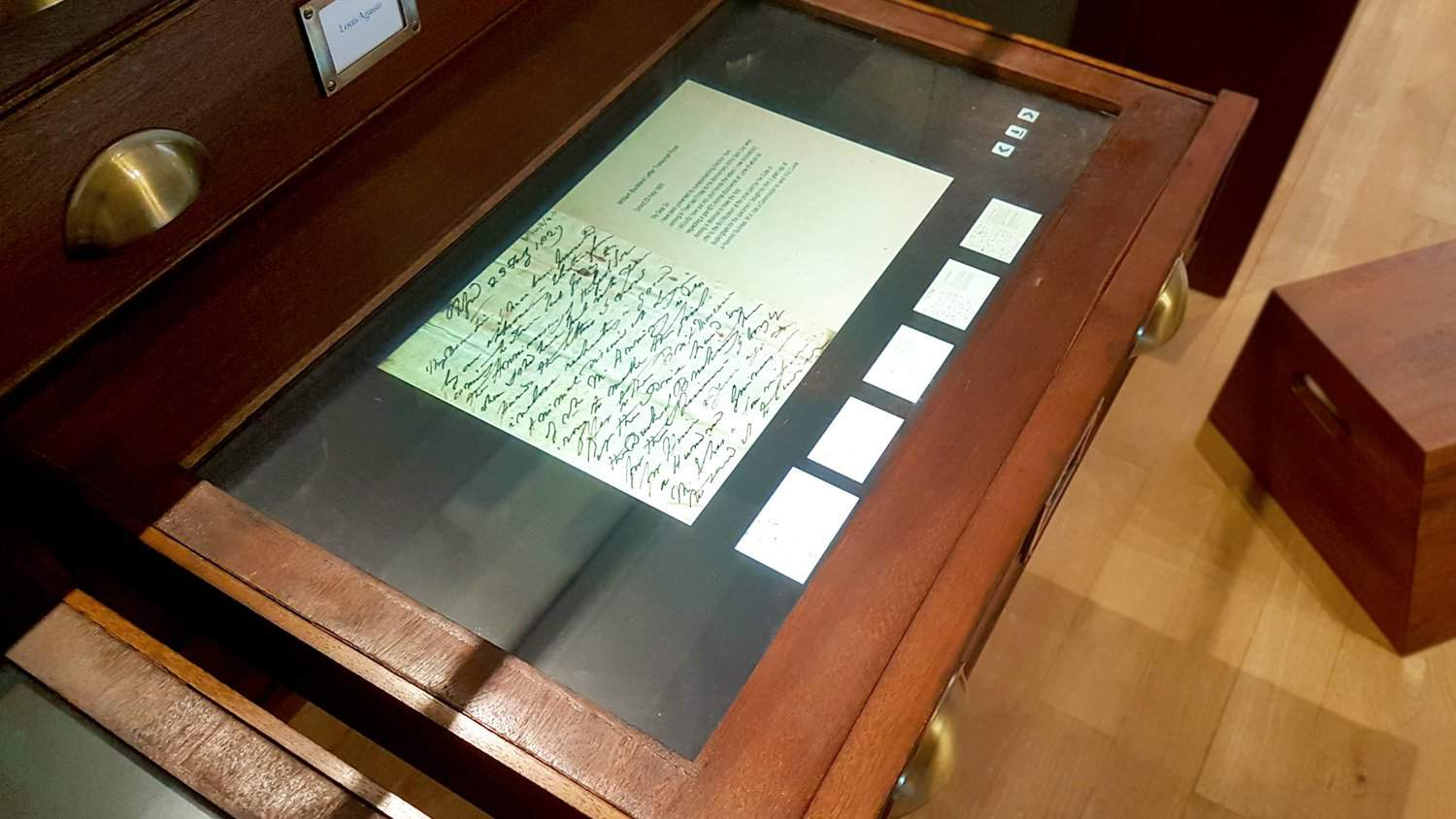 Letters from Mary Anning on 22 Inch All-in-One Touchscreen at Lyme Regis Museum