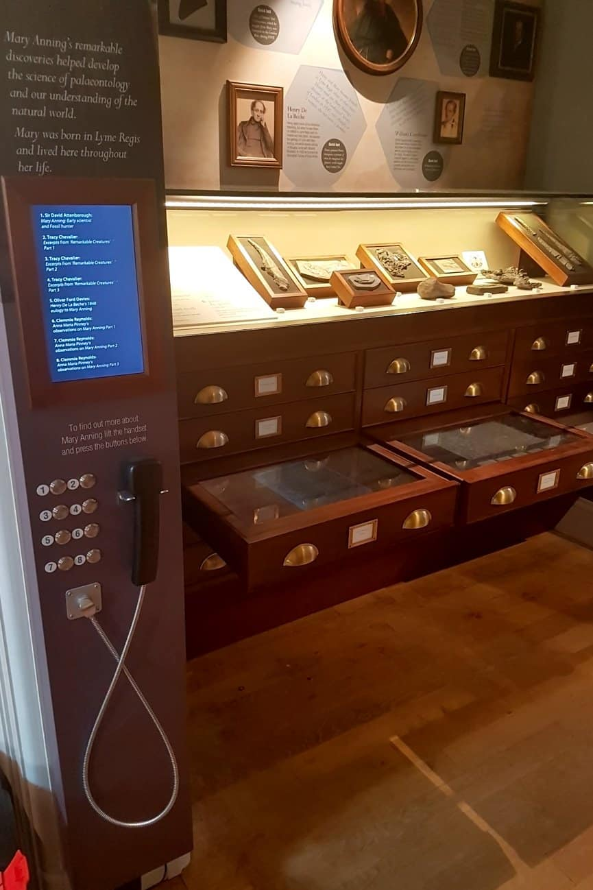 Mary Anning Touchscreen & Bespoke Video Unit for Lyme Regis Museum