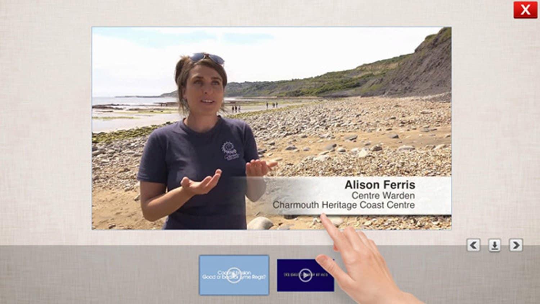 MediaShowreel Software by Blackbox-av for Lyme Regis Museum, Dorset
