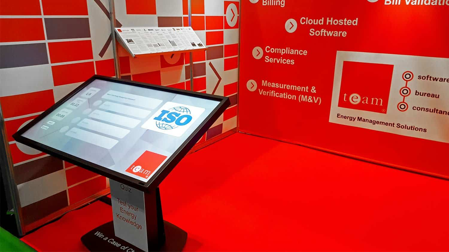EMEX London exhibition with TouchQuiz Touchscreen Quiz Software