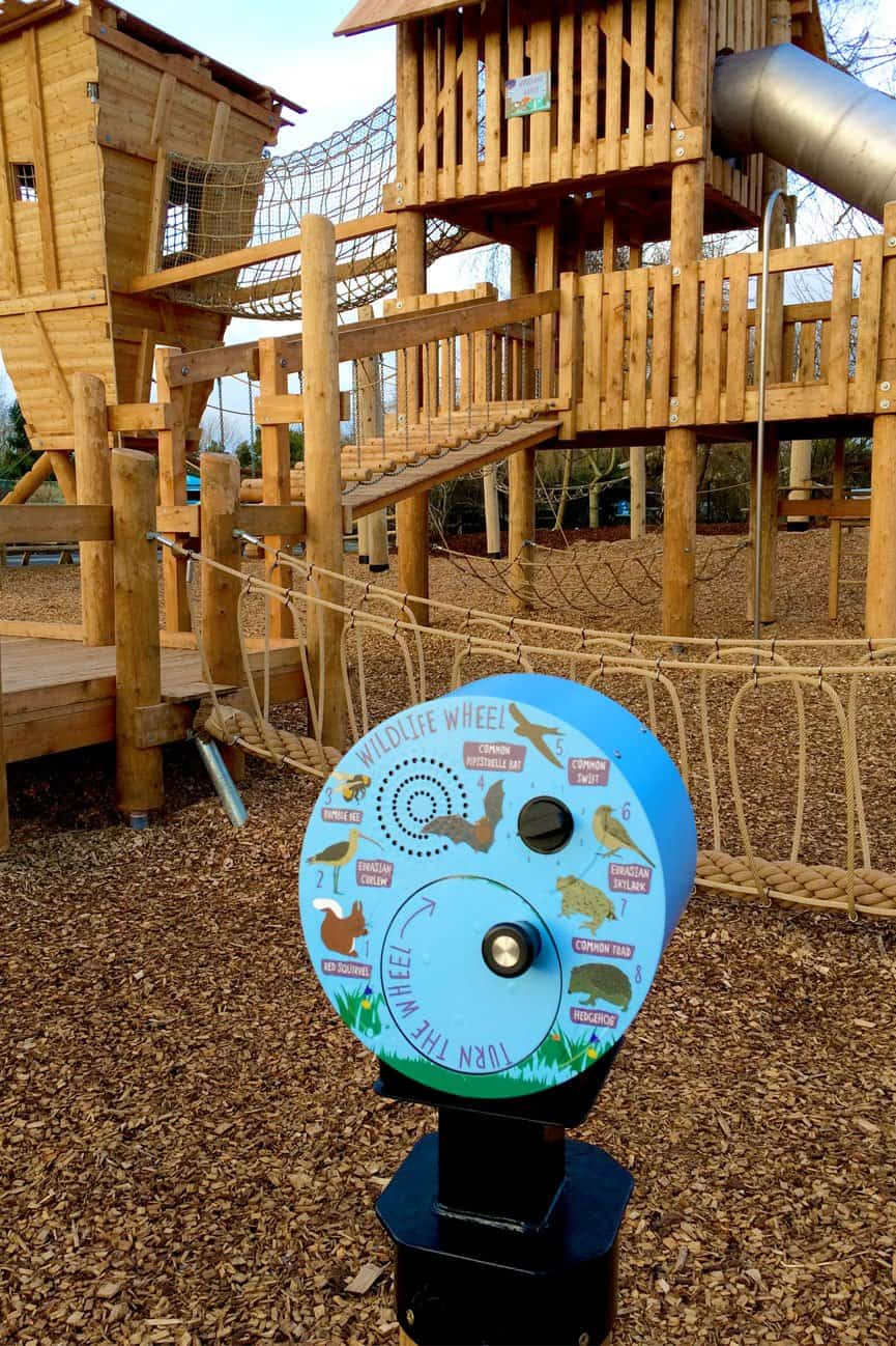 Outdoor Wind Up Dynamo Audio Point installed at Chester Zoo, Chester