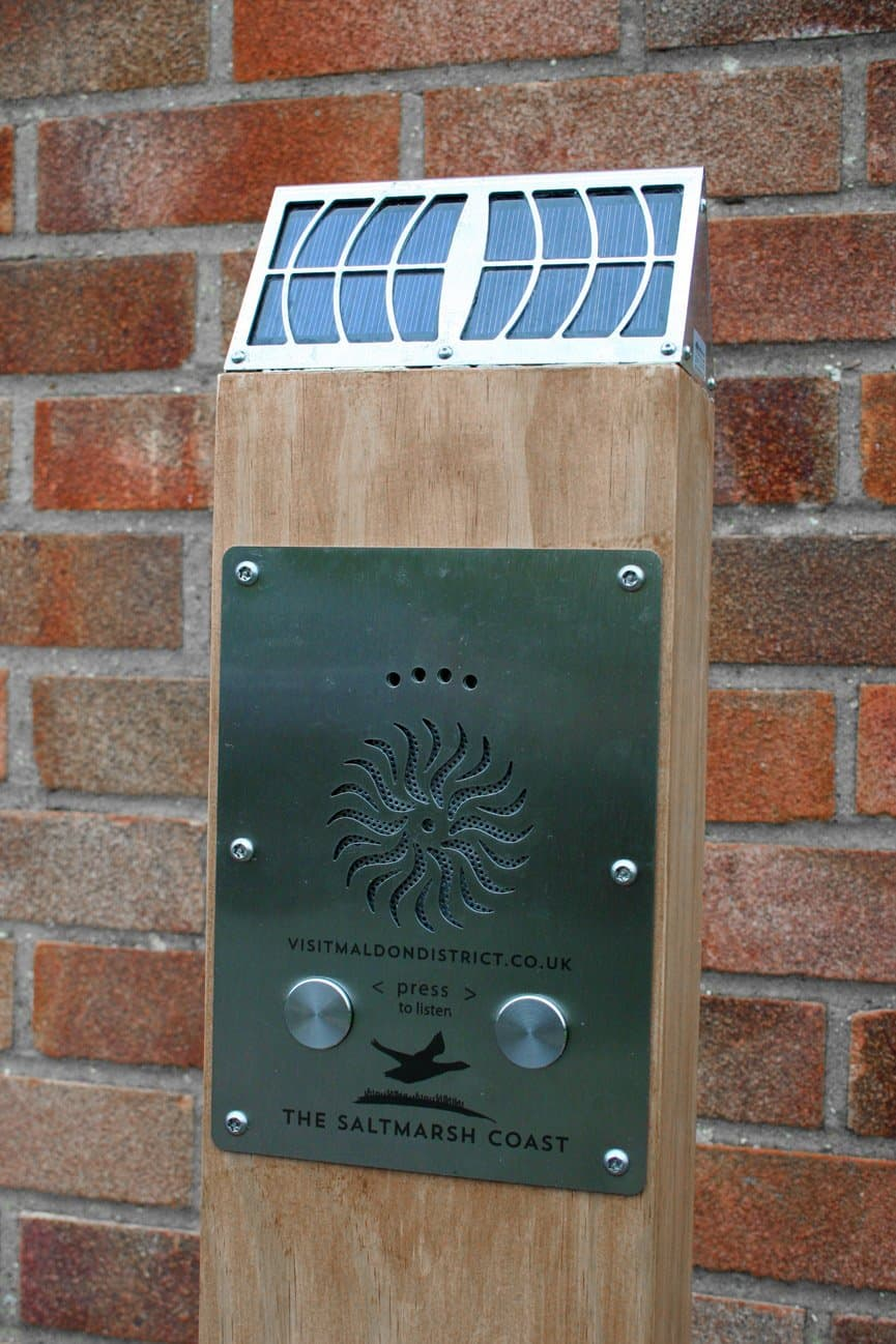 Close up of Solar Audio Post by Blackbox-av for Maldon Dsitrict Council