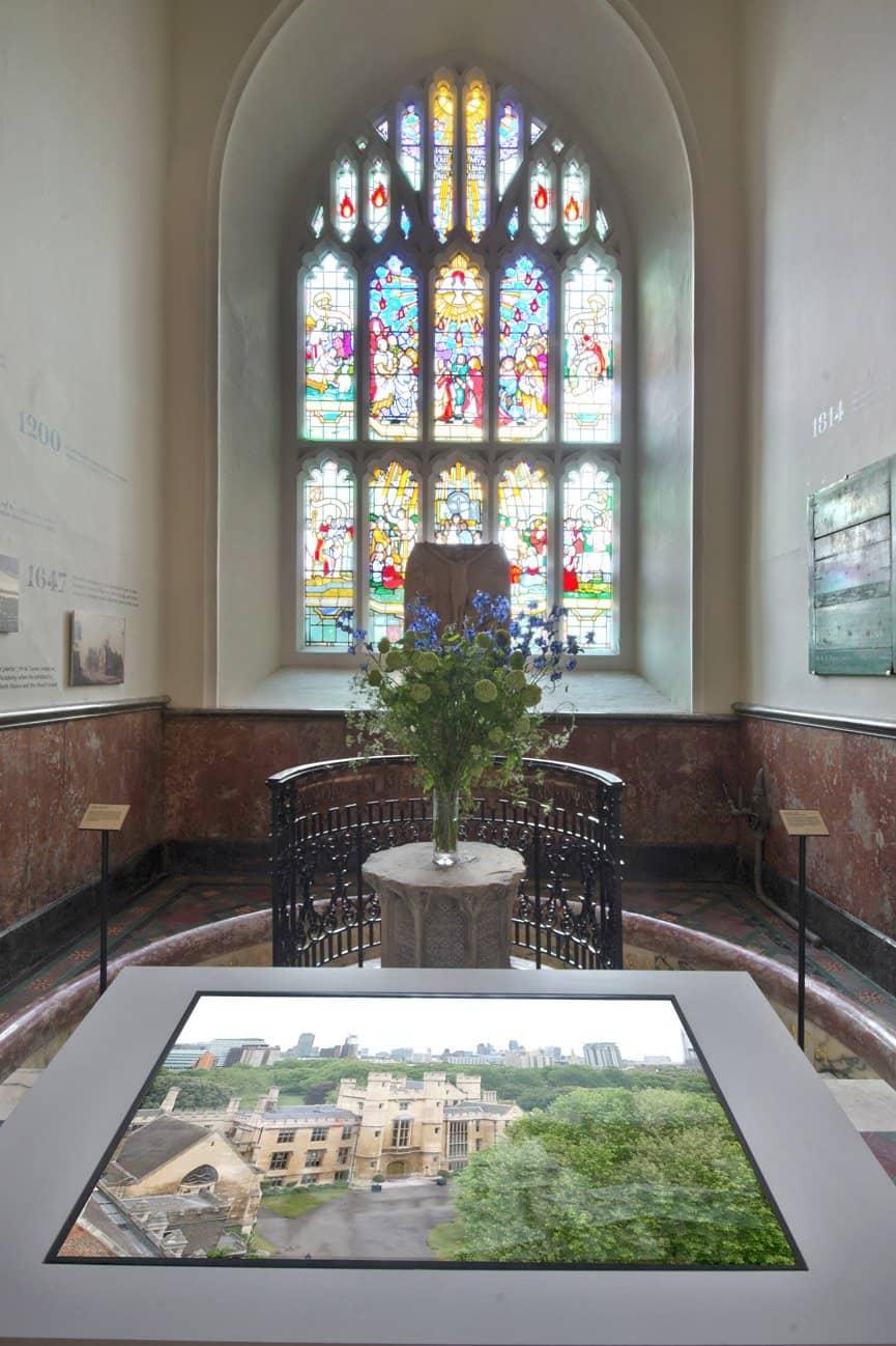 Touchscreen at the Garden Museum London