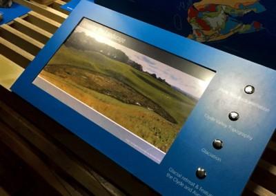 Open Frame Video Screens – New Lanark Visitor Centre