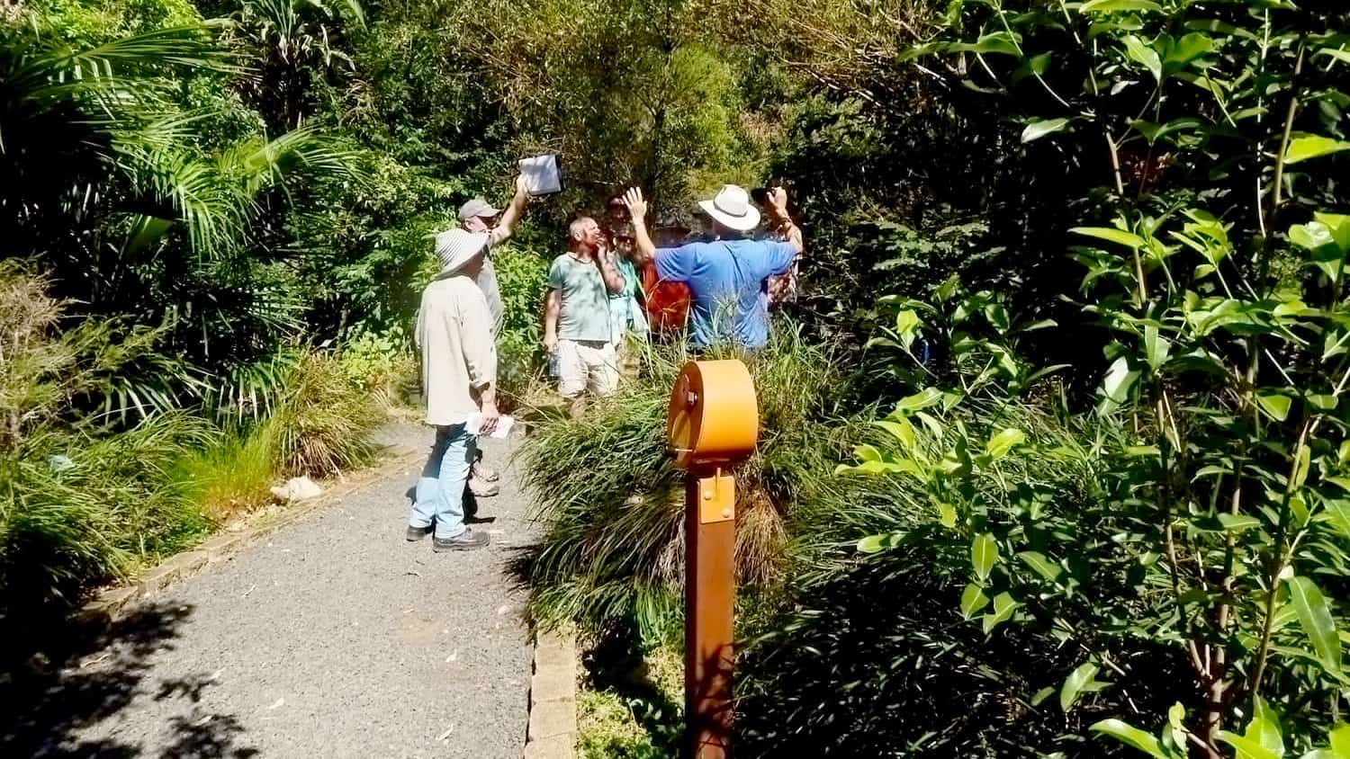 Armsign U-Turn Round provided by Blackbox-av installed at Lismore Rainforest Botanic Gardens
