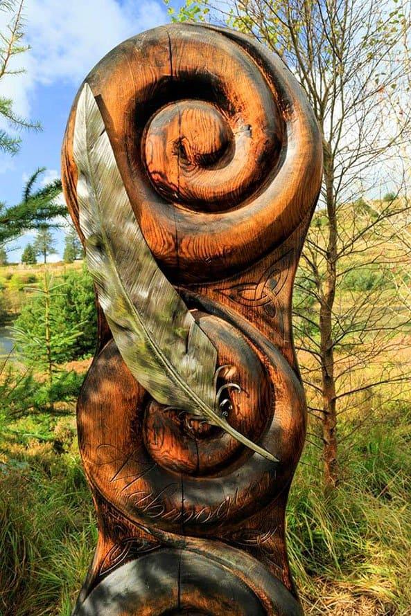 Bwlch Nant yr Arian Sculpture by Dan Lock Heritage Interpretation