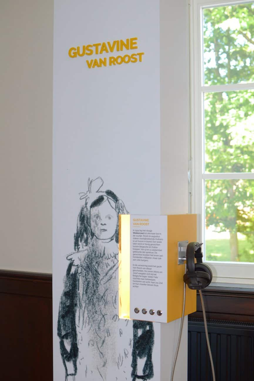 Close up of madoc audio unit installed at 14 18 Experience Center, Belgium