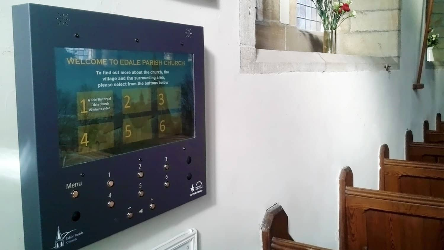 VideoFrame 12 Unit, Edale Parish Church