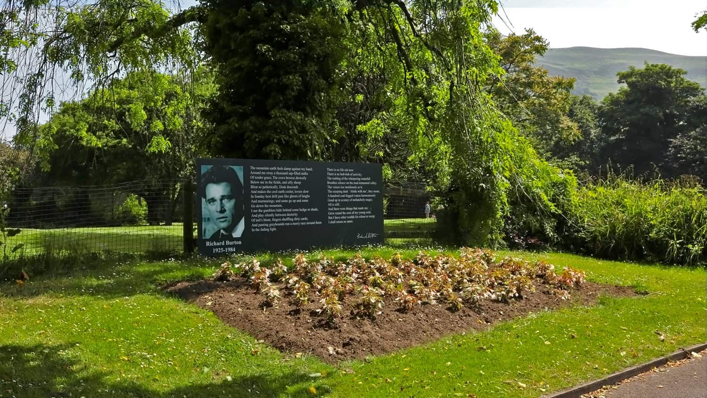Richard Burton Signage in Talbot Memorial Park