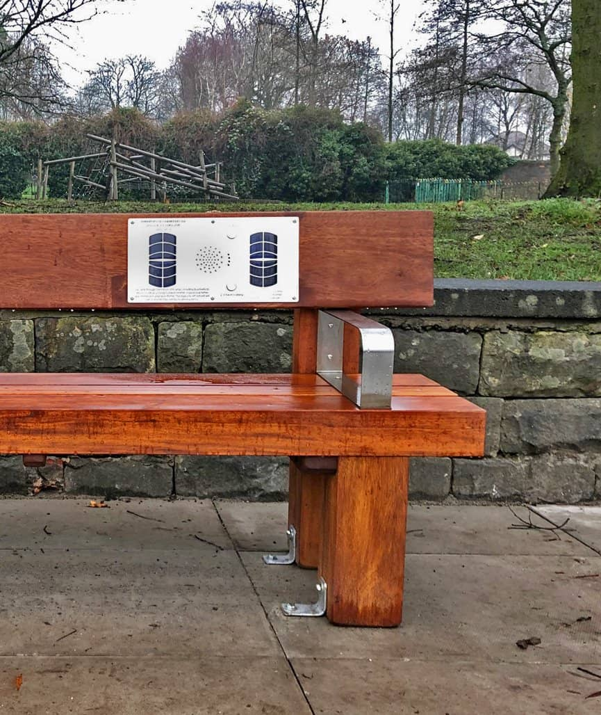 Heavy Duty Audio Bench - Front, Salford City Council Close