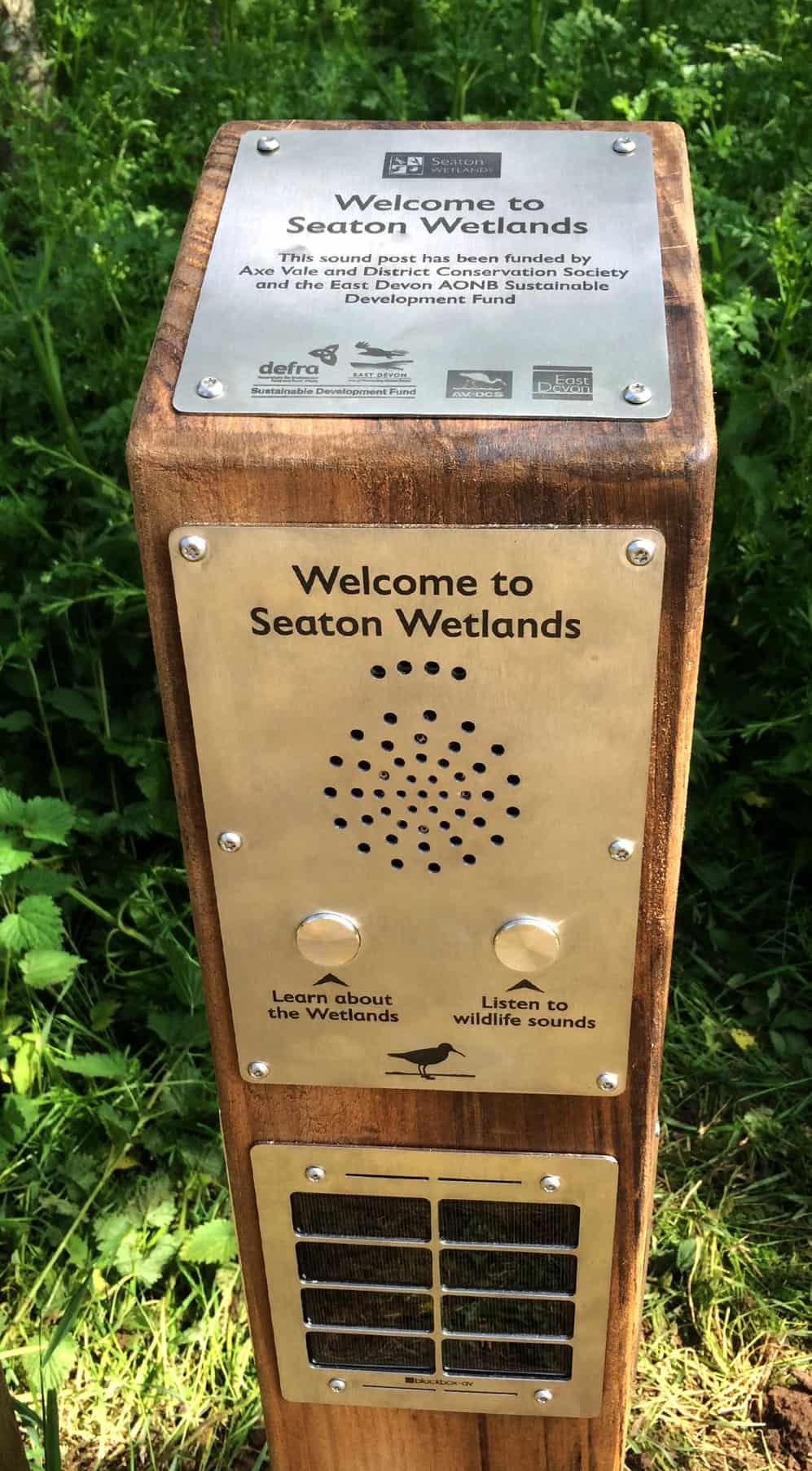 Seaton Wetlands Wooden Solar Audio Post