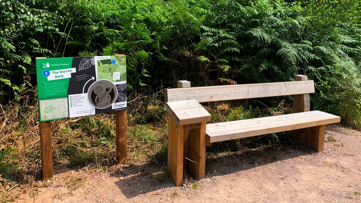 U-Turn Round installed at High Lodge Heritage Trail 2