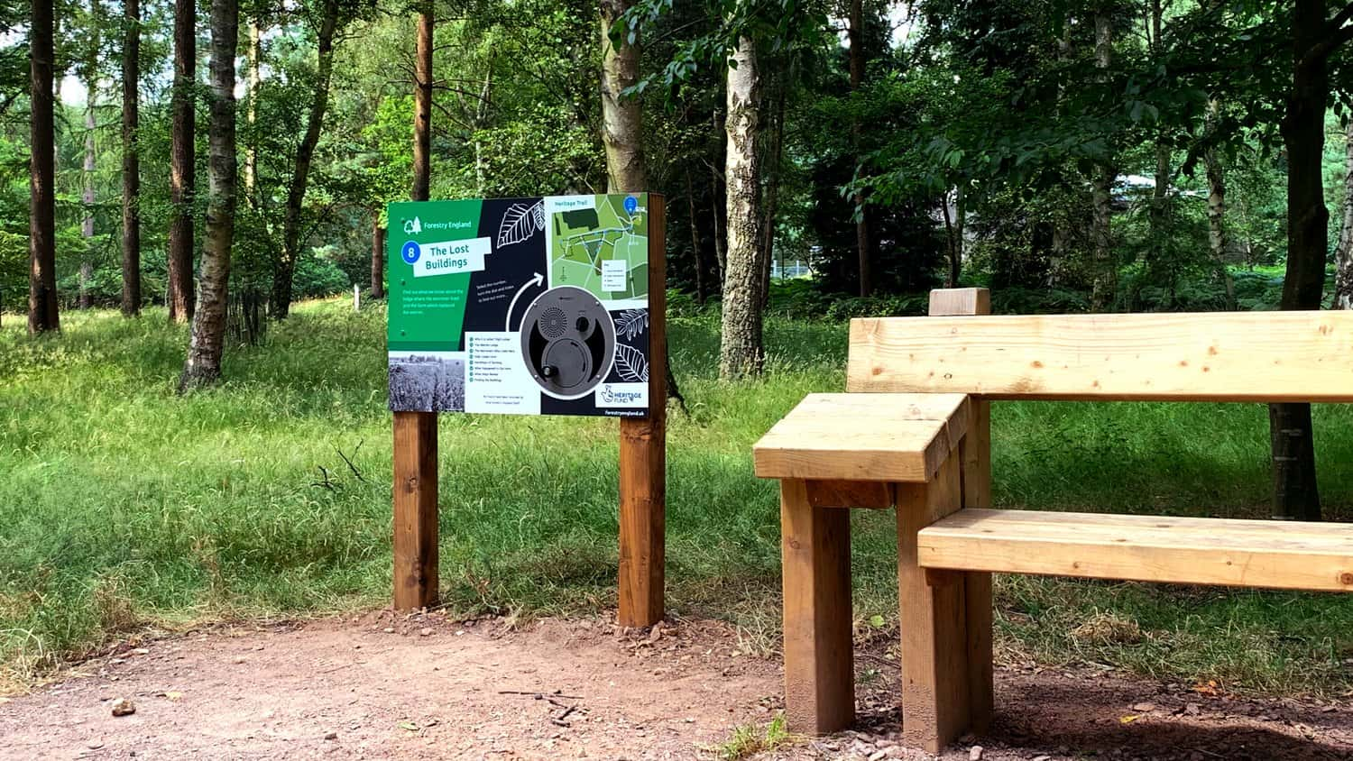 U-Turn Round installed at High Lodge Heritage Trail 8