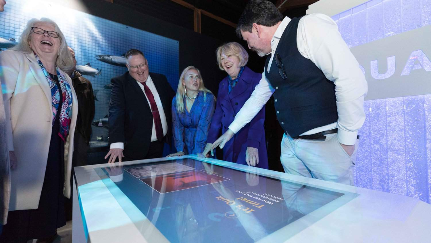 Burren Smokehouse, Taste the Atlantic - Salmon Experience with a 55 Inch Sleek Multi Touch Table