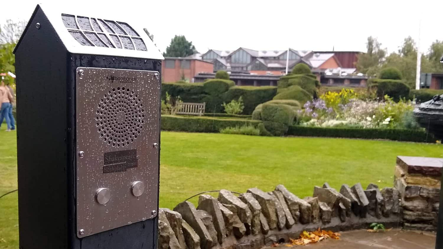 Weather Resistant Solar Audio Post at Shakespeare Birthplace Trust